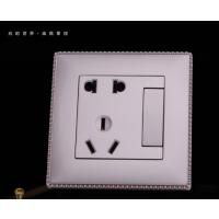 五孔插座开关V61镶边金系列一开带二 三极插座7-11