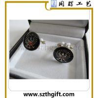 深圳工厂高片定做金属珐琅袖扣 可来图来稿免费设计定做袖扣 同辉五金
