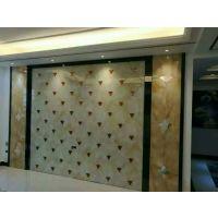 【焕彩】青海乐都出售艺术玻璃拼镜 客厅餐厅电视背景墙 沙河厂家
