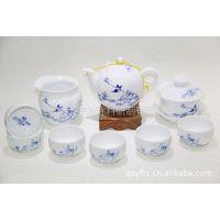 供应德化陶瓷茶具批发 厂家直销多款青花瓷茶具 礼品陶瓷功夫茶具