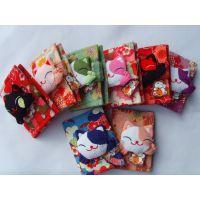 厂家直销 日本招喜屋和风招财猫礼品 卡通对折翻页猫头卡包卡套