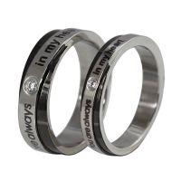欧美外贸ebay热卖情侣戒指 钛钢情侣戒指 钛钢戒指批发速卖通热卖