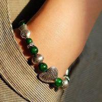 天然风格手工原创手链饰品绿松石手链藏银心鱼时尚气质简约女款