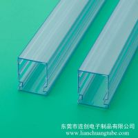 苏州塑料fpc包装管 连创连接器封装管 防静电透明包装管