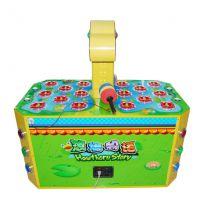 荷塘物语 双人打米老鼠儿童娱乐游戏机 投币打地鼠游艺机 敲击乐