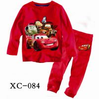 2014春秋新款儿童内衣纯棉 长袖圆领儿童睡衣 中小童男童家居服