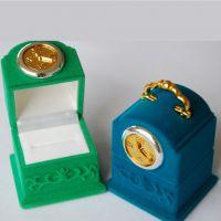 可爱卡通挂钟形戒指盒 金银珠宝礼品饰品包装盒 创意首饰盒批发
