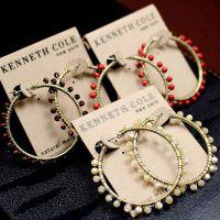 欧美大牌原单饰品批发 混批 品牌珊瑚珠蛋白石耳圈