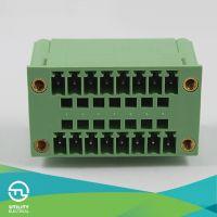 尤提乐接线端子MB1.5H/VF3.81 双排弯针插拔式PCB接线端子