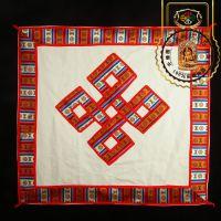 西藏红家居用品棉麻布艺绣花吉祥八宝福禄寿财民族风餐桌布台布