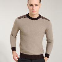 《批发》休闲男士貂绒衫纯色圆领男式羊绒衫 针织衫加厚保暖毛衣