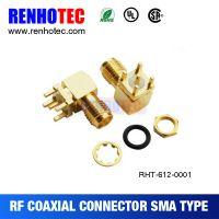 弯式PCB板端90度封装SMA射频插座 SMA射频天线座 SMA接头