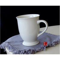 外贸陶瓷 餐具 新骨瓷 白色马克杯 水杯 咖啡杯 可印logo