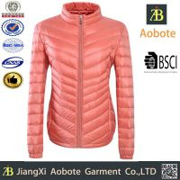 供应服装加工2015冬季新款女士轻羽绒短款大众时尚修身薄款羽绒服(b156004)
