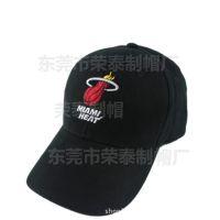 定制篮球球队棒球帽球迷帽 NBA迈阿密热队帽子 定做纯棉遮阳帽