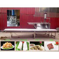 鱼豆腐成型机,豆制品成型设备,千叶豆腐切块成型机
