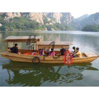 电动船广东山东那定制 旅游观光木船 公园景点观光船服务类船