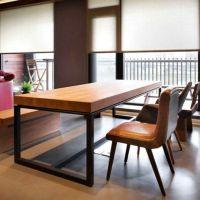 北京创客美式乡村北欧咖啡茶餐厅桌椅实木家具原木复古铁艺餐桌书桌会议桌