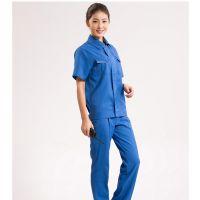 上海嘉定区工作服,纯棉短袖工装定制牛仔工作服批发