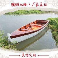 钓鱼船买什么船用楚风木船手划小木船