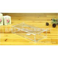 塑料长方形透明出口纸巾盒 多个尺寸 可加印LOGO 亚克力纸巾盒