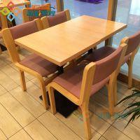 汉堡奶茶店简约快餐桌椅 时尚快餐桌椅组合 曲木分体式餐桌椅批发
