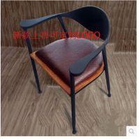 批发做旧铁艺快餐桌椅电脑办公椅子 欧式休闲靠背椅子咖啡厅椅子