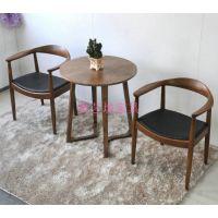 典艺坊提供休闲咖啡椅 实木围椅 西餐厅桌椅 美式复古 茶几 连锁店批发订制