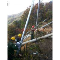 全国10米电线杆起杆器 坡地线杆立杆机厂家 三角扶杆机 河北