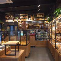 浙江杭州展柜厂加工定制惠利展柜新款组装实木面包糕点柜HL4401