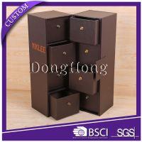 DH8091工厂定制抽屉式收纳盒 领结展示盒 领带包装盒 多功能收纳纸盒