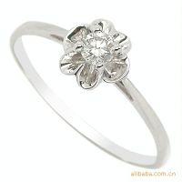 易燃火山专柜正品 新款钻戒 爆款 18k白金钻石女戒 婚戒 指环戒指