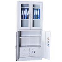厂家直销 铁皮柜办公家具钢制文件柜 四门 文件柜