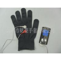 银纤维美容魔术手套 双扣导电按摩手套 电极能量脉冲手套