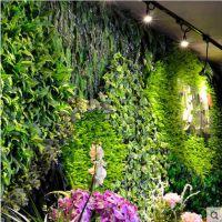 河南枫林园艺厂家专业现场设计施工制作仿真植物墙,绿化墙体装饰,假绿植造景墙
