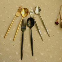 沙朵供应欧美家居用品安妮尖柄西餐具 304餐具定制葡萄牙不锈钢四件套装