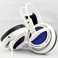 炫灯版 头戴式 电脑游戏耳机耳麦 带线控 虚拟7.1声道 白