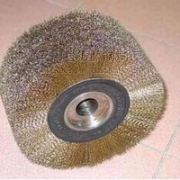 绕式毛刷辊抛光钢丝刷辊 不锈钢丝毛料丝刷辊 除锈钢丝毛刷钢丝轮