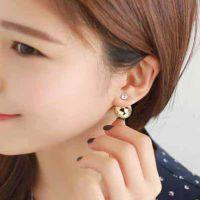 简约水晶皇冠珍珠耳环 新款耳钉 Ebay速卖通货源 ALQE20150746