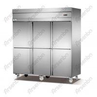 面包房厨房冷柜-制冷冰柜-不锈钢六门双温冰柜-冰柜保鲜冷藏设备
