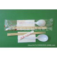 通用一次性餐具三件套筷子、纸巾、牙签餐具套装可定制