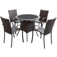 花园沙发组合 仿藤桌椅套装 会所咖啡厅露天用休闲桌椅套装