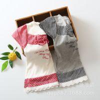 外贸童装批发 出口日本原单大牌女童T恤 拼接式裙上衣