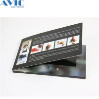 深圳市艾维科厂家直销7寸led电子贺卡可定制logo视频贺卡企业宣传广告电子相册AWK-3301