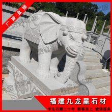 九龙星石材供应石雕大象,汉白玉石大象,花岗岩大象摆件