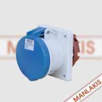 常州直销上曼电气MANLAKIS TYP1261 63A-6h 3P IP44检修箱插座 现货特价