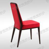 餐椅 韩式实木椅 红色PU皮椅 酒店软座椅 快餐桌椅价格