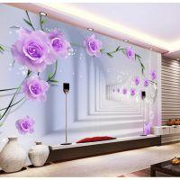 批发大型3D壁纸卧室客厅电视沙发背景墙纸 无缝墙布定制空间壁画