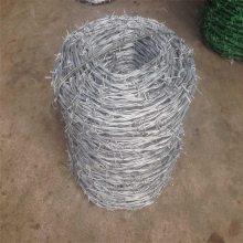 旺来电镀锌刺绳 带刺铁蒺藜 防护刺绳