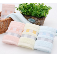纯棉素色断档彩色方格毛巾劳保福利超市促销